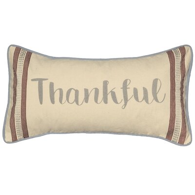 Thankful Cotton Lumbar Pillow