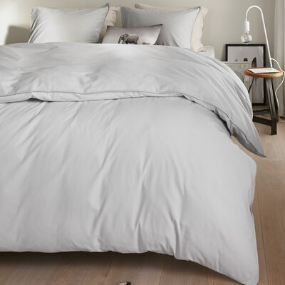 Bloomfield 100% Cotton 3 Piece Duvet Set Size: King, Color: Light Gray