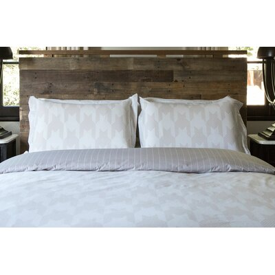 Houndstooth 100% Cotton Reversible Duvet Set Size: King / California King