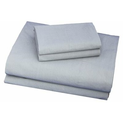 Thread Experiment Washed Solid Luxurious, Long-staple 100% Cotton Percale Sheet Set - Size: Twin XL, Color: Charcoal
