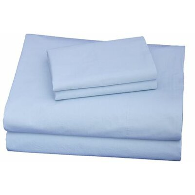 300 Thread Count Cotton Sheet Set Size: Queen, Color: Light Blue