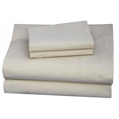 Thread Experiment Washed Solid Luxurious, Long-staple 100% Cotton Percale Sheet Set - Size: Queen, Color: Tan