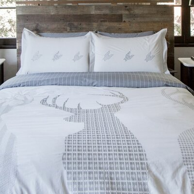 100% Cotton Reversible Duvet Set Size: Full / Queen