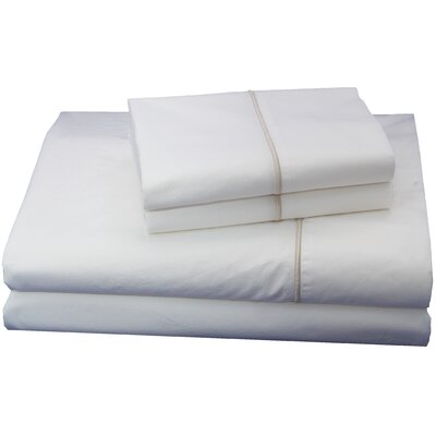 Luxurious 300 Thread Count Cotton Sheet Set Size: Full, Color: Tan
