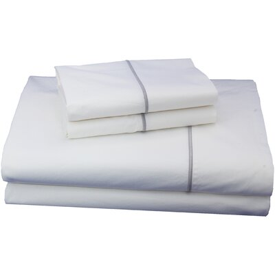 Luxurious 300 Thread Count Cotton Sheet Set Size: Full, Color: Charcoal