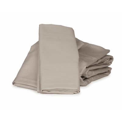 Herringbone Solid 100% Cotton Sheet Set Color: Greige, Size: Twin