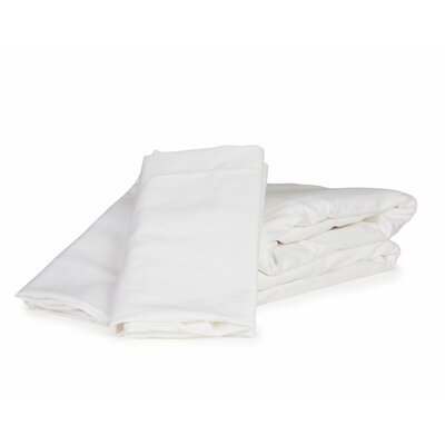 Herringbone Solid 100% Cotton Sheet Set Size: Full, Color: White