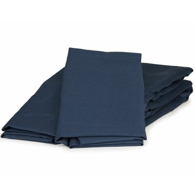 Herringbone Solid 100% Cotton Sheet Set Size: King, Color: Navy