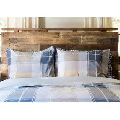 Go Plaid Duvet Set Color: Grayish Beige / Tan, Size: Twin / Twin XL