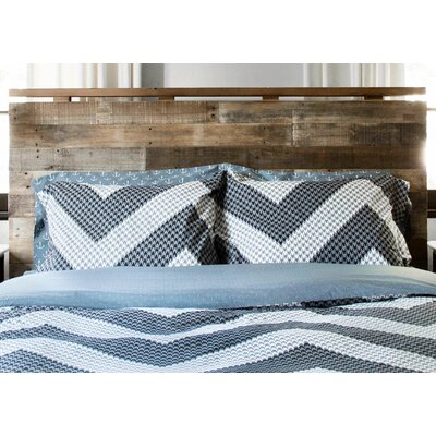 Houndstooth 100% Cotton Reversible Duvet Set Size: Full / Queen