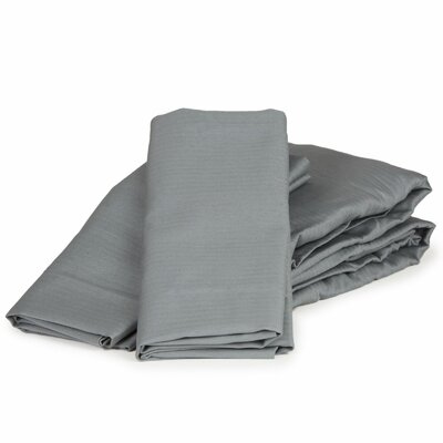 Herringbone Solid 100% Cotton Sheet Set Color: Charcoal, Size: California King