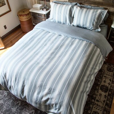 2 Piece Reversible Duvet Set Size: Twin/Twin XL, Color: Charcoal
