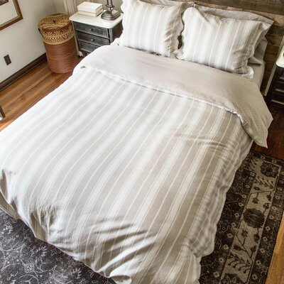 2 Piece Reversible Duvet Set Color: Beige, Size: Twin/Twin XL