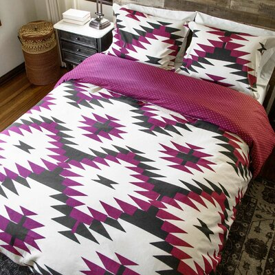 2 Piece Reversible Duvet Set Size: Full/Queen