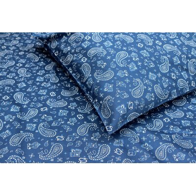 Bandana 300 Thread Count Cotton Sateen Sheet Set Size: Queen