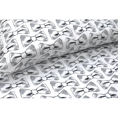 Bow Ties 300 Thread Count Cotton Sateen Sheet Set Size: King