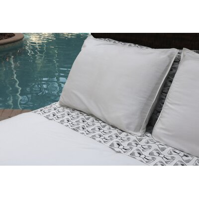 100% Sateen Cotton Reversible Comforter Set Size: Twin/Twin XL, Color: White