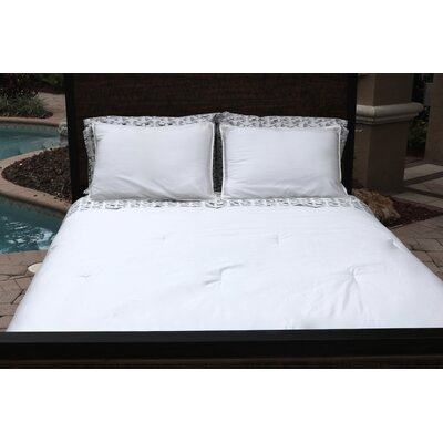 100% Sateen Cotton Reversible Duvet Set Size: Twin/Twin XL, Color: White