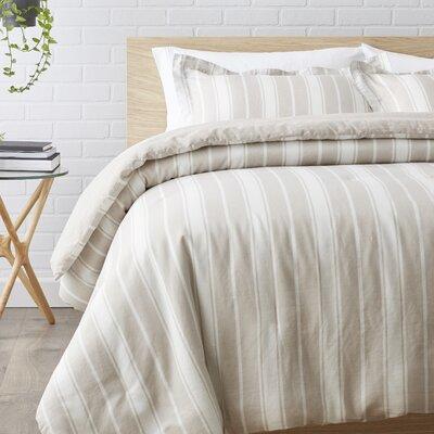2 Piece Reversible Comforter Set Color: Beige, Size: Twin/Twin XL
