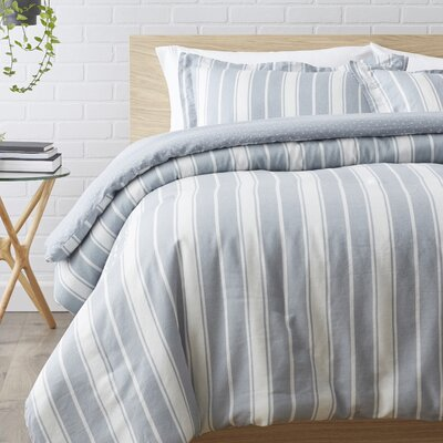 2 Piece Reversible Comforter Set Size: Twin/Twin XL, Color: Charcoal