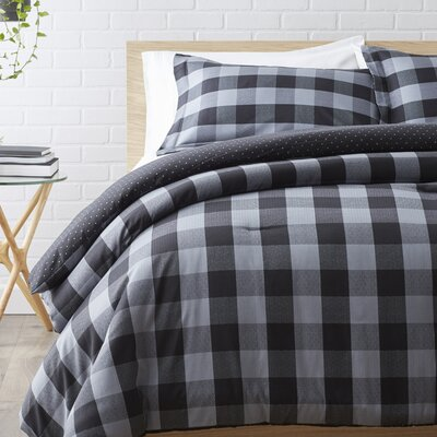100% Cotton Reversible Comforter Set Size: King / Cal King