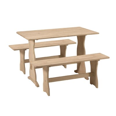 Ulloa Trestle 3 Piece Dining Set