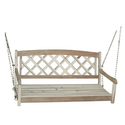 Ridgeland X-Back Porch Swing Finish: Unfinished