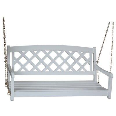 Ridgeland X-Back Porch Swing Finish: White