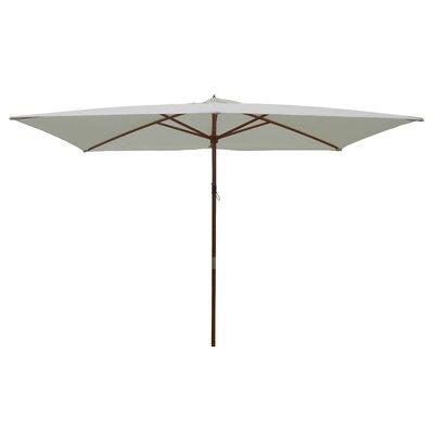 6.5 x 8 Rectangular Market Umbrella Fabric: Natural