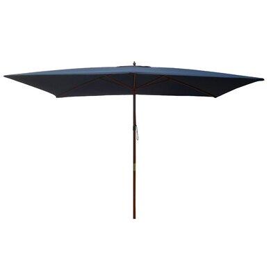 6.5 x 8 Rectangular Market Umbrella Fabric: Navy Blue
