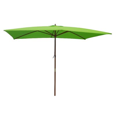 6.5 x 8 Rectangular Market Umbrella Fabric: Lime Green