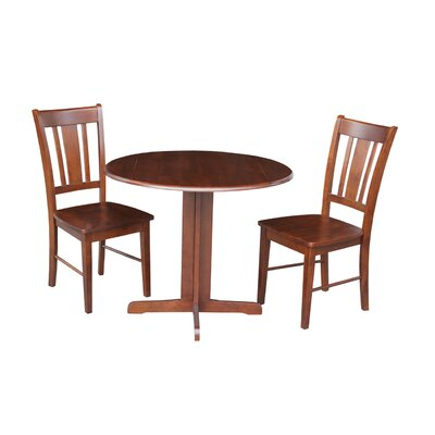 3 Piece Dining Set Finish: Espresso