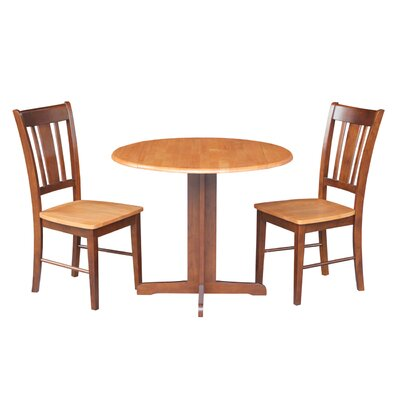 3 Piece Dining Set Finish: Cinnamon / Espresso