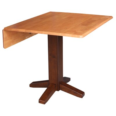 Runkle Square Dual Drop Leaf 36 Extentable Dining Table Finish: Cinnamon/Espresso