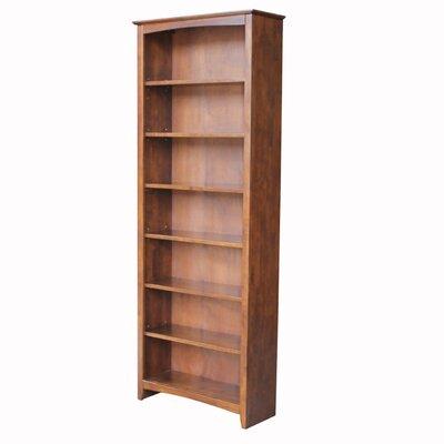 "International Concepts Shaker High Bookcase - Size: 84"" H x 32"" W x 12"" D, Finish: Espresso"