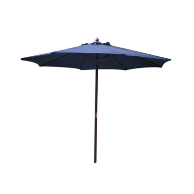 Lanark 9 Market Umbrella Fabric: Navy Blue