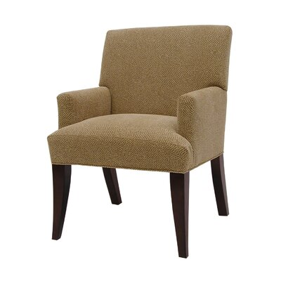Anya Winslow Arm Chair Upholstery Color: Blue Chip, Upholstery Color: Espresso