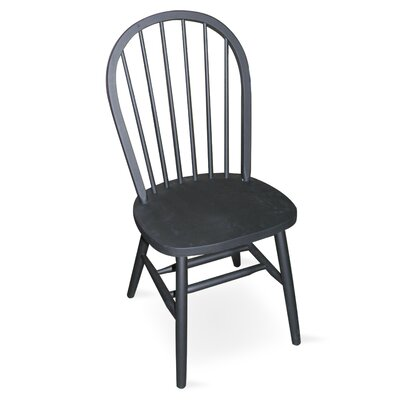 Low Price International Concepts Spindleback Windsor Side Chair Finish: Black