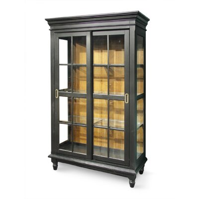 Buy Low Price International Concepts Madison Park China Cabinet in Black/Cherry (WI1817)