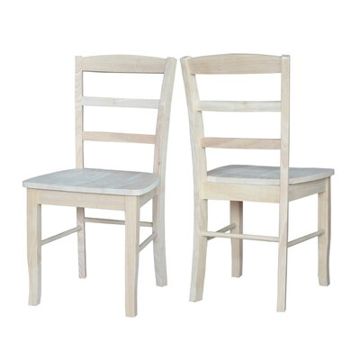 Brianne Solid Wood Dining Chair Color: Unfinished