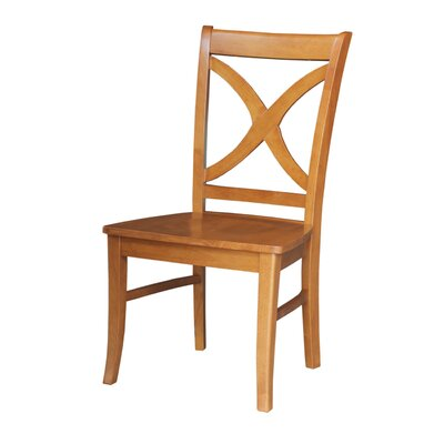 Beuvron Solid Wood Dining Chair Color: Aged Cherry