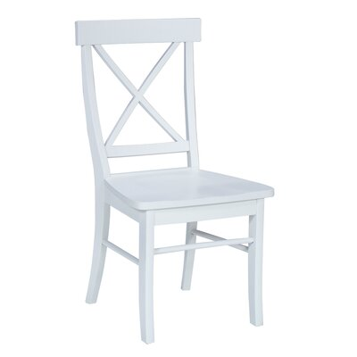 Low Price International Concepts Cross Back Side Chair (Set of 2) Finish: Linen