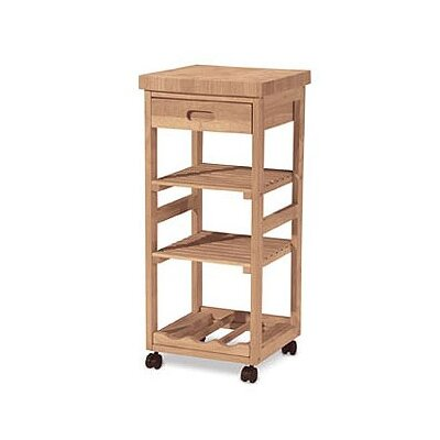 Cheap International Concepts Kitchen Trolley Cart with shelves (WI1558)