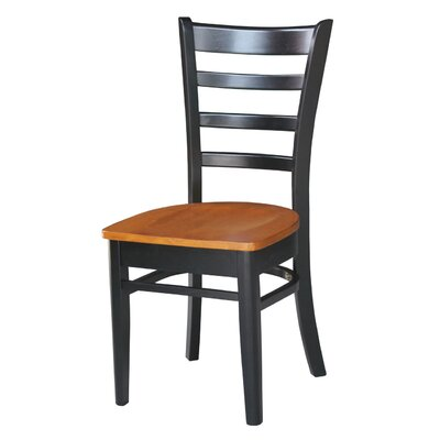 Bloomfield Solid Wood Dining Chair Color: Black/Cherry