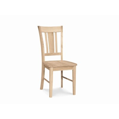 International Concepts Unfinished San Remo Slat Back Chair (Set of 2) (WI1950)