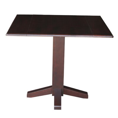 Runkle Square Dual Drop Leaf 36 Extentable Dining Table Finish: Rich Mocha