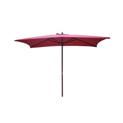 6.5 x 8 Rectangular Market Umbrella Fabric: Autumn Red