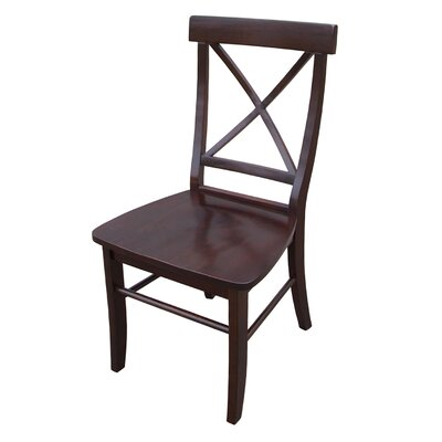 Bad credit financing Cross Back Side Chair (Set of 2) Fi...