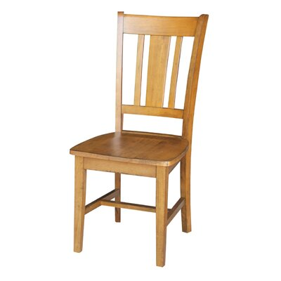 Malcolm Solid Wood Dining Chair Color: Pecan