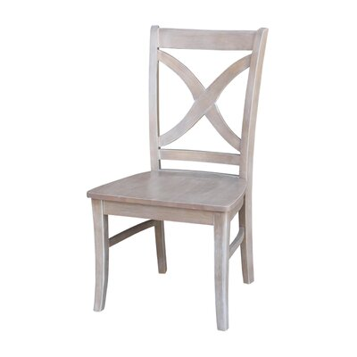 Beuvron Solid Wood Dining Chair Color: Weathered Gray